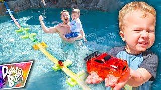HUGE Swimming Pool Magic Tracks Bridge Challenge!
