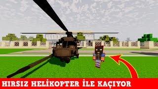 HIRSIZ VS POLİS #30 - Hırsız Helikopter ile Kaçıyor (Minecraft)