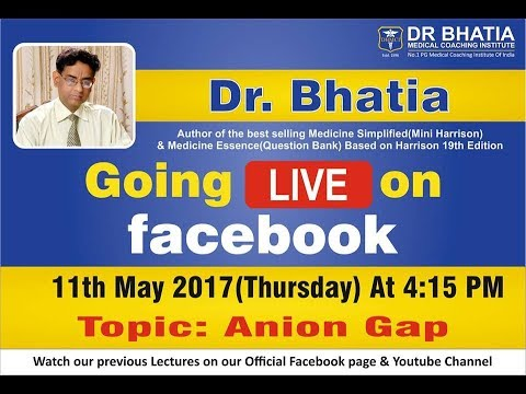 "Discussing in ""Anion Gap"" By Dr. Bhatia Sir Live On Faecbook  (DBMCI) thumbnail"