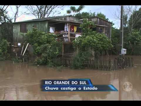 Jornal do SBT (22/09/15) Rio Grande do Sul tem mais de 6 mil famílias afetadas pelo temporal