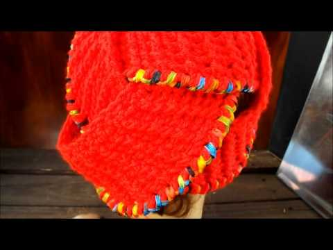 Crochet Hat Women Couture - The Borromean Rings Crochet Hat