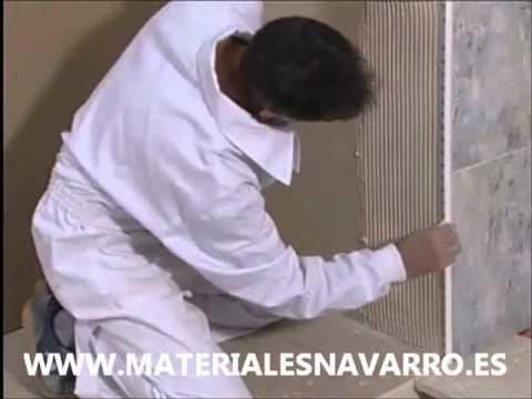 Colocacion cantonera youtube Como colocar ceramica en pared