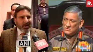 J&K Minister Vs Army Chief Bipin Rawat Over Education