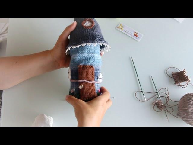 Вязание двойной (полой) резинки. Основы вязания спицами.