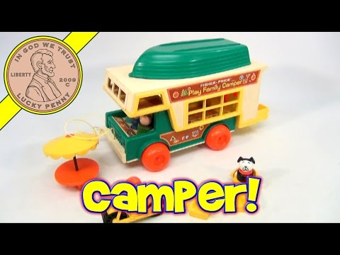 Vintage 1973 Fisher-Price Little People Play Family Camper Set #994