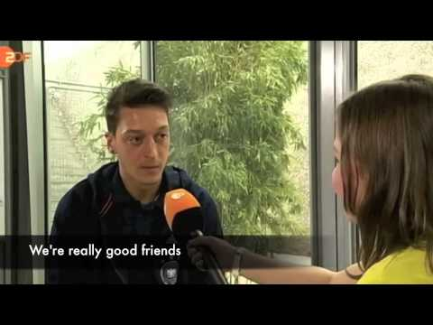 2013 Mesut Ozil interviewed by kid (ENG SUB)