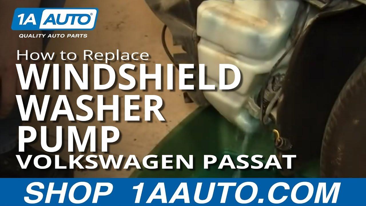 windshield washer pump location