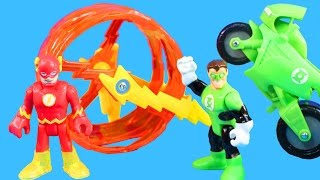 Imaginext The Flash Rescues Green Lantern & Cycle From Joker Skateboard Dude And Bane