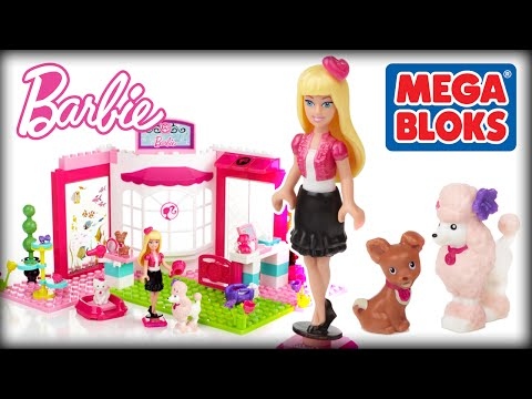 ♥ BARBIE Mega Bloks Pet Shop Build 'N Style (Creative Playset for Kids & Little Girls)