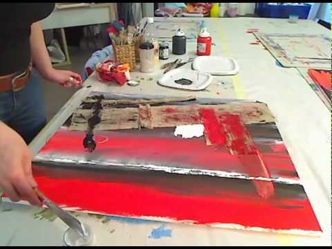 Pittura materica come applicare materiali sui quadri for Quadri facili da dipingere