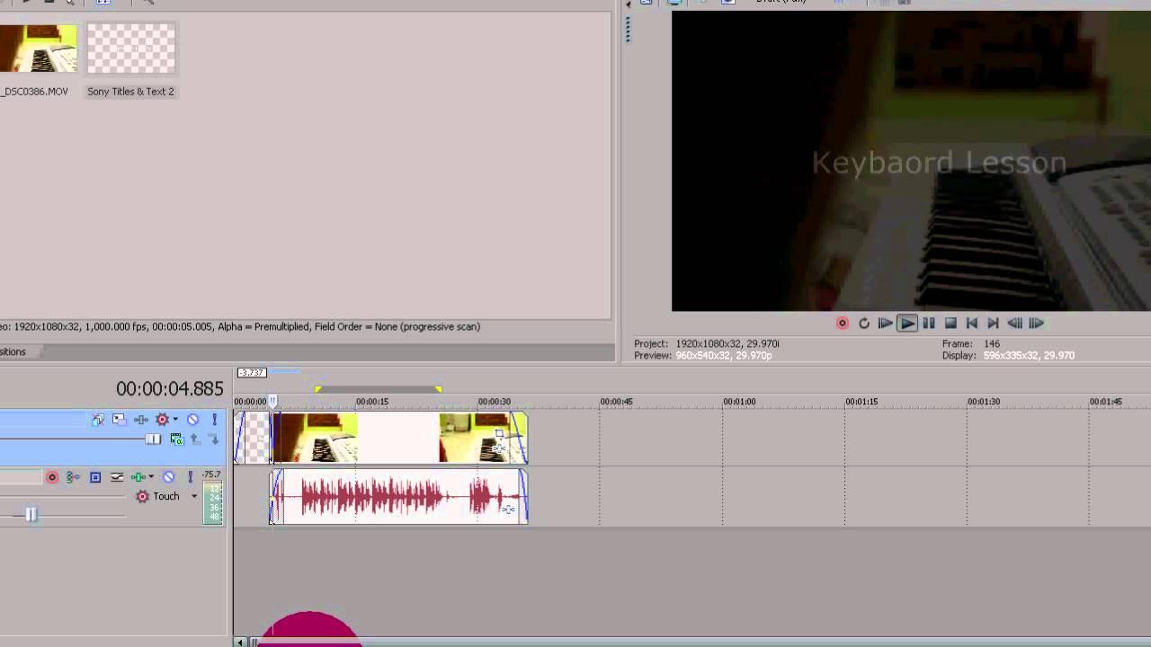 Tutorial : Cara Edit Video Dengan Sony Vegas Pro Part 1 - YouTube