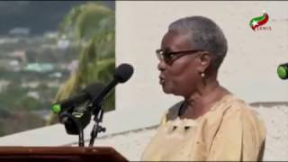 ECCB Retiree Puretta Wilkin Tributes Sir Dwight Venner at Renaming Ceremony of Building in His honor