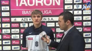 Wywiad po meczu - Filip Matczak, AZS Koszalin - Asseco Gdynia 68:66, 25.03.2014