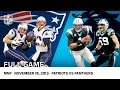 Download Cam Newton Beats Tom Brady | Patriots vs. Panthers (Week 11, 2013) | NFL Full Game in Mp3, Mp4 and 3GP