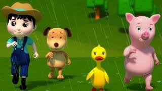 Chuva chuva vá embora  Rima de berçário  crianças Canção  Kids Rhyme  Rain Rain Go Away Kids Songs