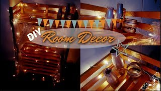 DIY Room Decor | Recycle DIY | Room Decor on a budget | Keventers Glass Bottles, Rack!!
