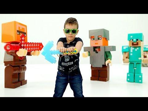 Стив и Алекс добывают Супер Кристалл! Видео Майнкрафт.