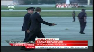 President Barack Obama departs the US for Kenya