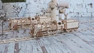 Locomotive with tender UGEARS 460