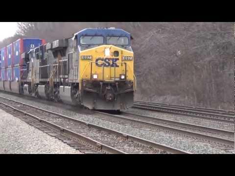 Long Fast Moving CSX Intermodal Train