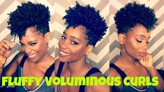 Fluffy Voluminous Curls on Tapered Natural Hair | MissKenK