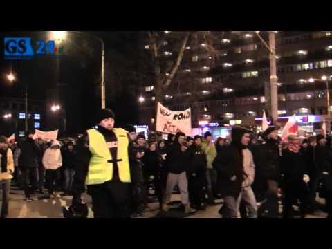 Nie Dla ACTA - Drugi Protest W Szczecinie - 1 II 2012