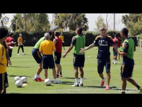 """Even when they're playing games during training, Galaxy players are pretty competitive! Take this """"Transfer Game"""" as an example. We chatted with Associate Head Coach Dave Sarachan, who had..."""