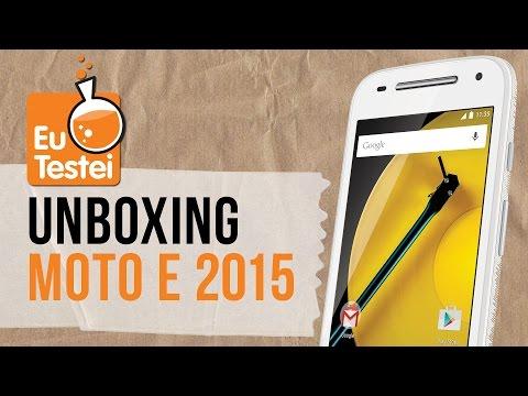 Moto E 2015 2º geração Motorola Smartphone - Unboxing Brasil