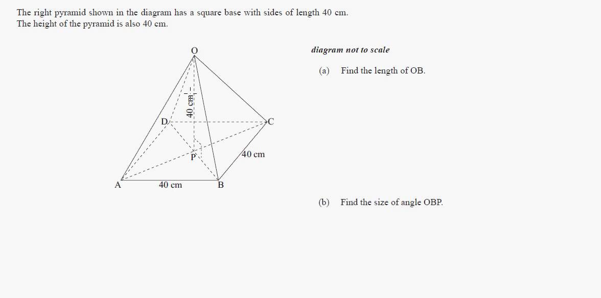 ib math studies  3d trigonometry