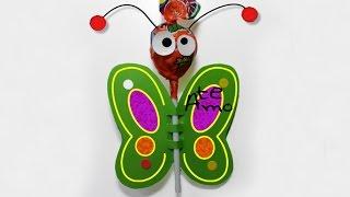 Mariposa ChupaChups - Manualidades - ChispiKids