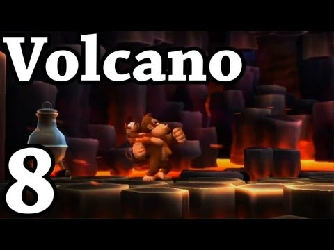 Let's Play Donkey Kong Country Returns: World 8 - Volcano