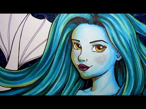 Mermaid Copic Marker Illustration Youtube