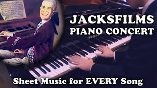 Jacksfilms Piano Concert (with Sheet Music, Chords & Lyrics for EVERY Jacksfilms Song!)