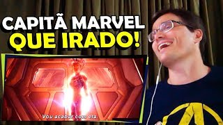 CAPITÃ MARVEL, ESSE SIM VAI SER UM FILMAÇO! React Trailer Capitã Marvel