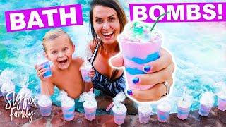🦄 POOL PARTY 10,000 UNICORN BATH BOMBS!! | Slyfox Family