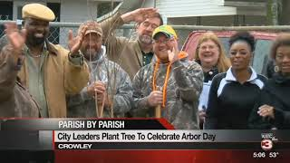 Crowley celebrates Arbor Day by planting tree