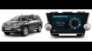 Штатная магнитола Toyota Highlander (2009-2015), Megabox P-1078 Android OS
