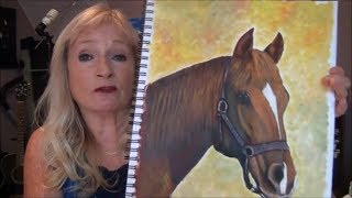 How to Paint a HORSE with 3 colors Easy Acrylic Painting for Beginners Part 1