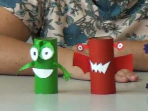 Arte do Saevinho - Monstro de rolo de papel higiênico