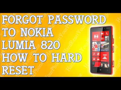 Forgot Password Lumia 820 How To Hard Reset Nokia