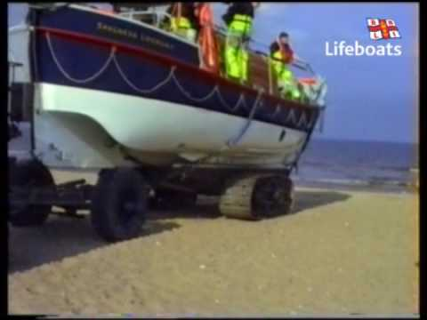 Skegness RNLI Lifeboats - Archive: Launching 'Charles Fred Grantham', July 1990