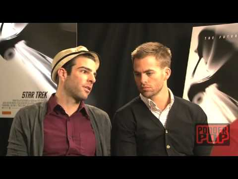 BROMANCE, Kirk, Spock and Blunty - Zachary Quinto & Chris Pine Star Trek Stars