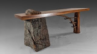 Building a Stone and Wood Bridge Bench - Woodworking - Stone