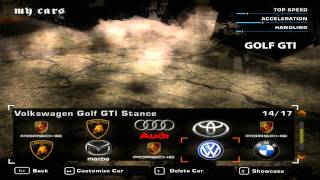 Stance/Tuned Cars Part 2 - Need for Speed Most Wanted