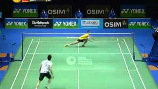 Unbelievable Badminton Rally! Lin Dan vs Lee Chong Wei - 2011 All England