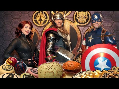 Marvel Dinner Buffet at the Manhattan Restaurant with Thor, Captain America and the Black Widow