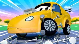 Tom the Tow Truck -  Tom the Tow Truck Helps Tyler the Race Car - Car City ! Trucks Cartoon for kids
