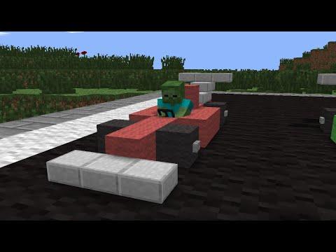 Monster School: Racing - Minecraft Animation