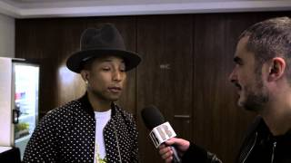 Pharrell Video - Zane Lowe with Pharrell Part II | Backstage At The BRITs 2014
