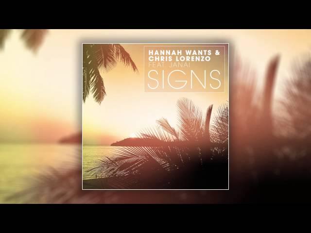 Hannah Wants & Chris Lorenzo feat. Janai - Signs (Cover Art)